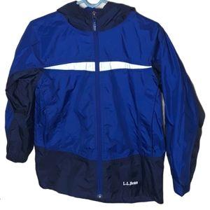 L.L. Bean Kids M 10-12  blue light weight jacket